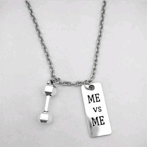 Me vs Me dumbbell barbell crossfit weight necklace